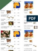 moltiplicazione divisione in cucina e ricette