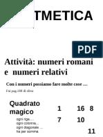 numeri relativi e numeri romani attività esercizi