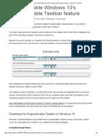 How to disable Windows 10's Programmable Taskbar feature - gHacks Tech News