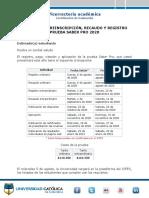 Mi proceso preinscripción, registro y pago prueba Saber Pro 2020