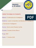cuadro comparativo metodos de investigacion