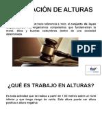 LEGISLACIÓN DE ALTURAS