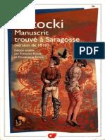 Potocki Jean- Le manuscrit trouve a Saragosse