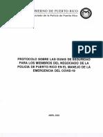 Protocolo Sobre Las Guias COVID19 Negociado de la Policía de Puerto Rico