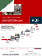 estudios de oferta y demanda de IE