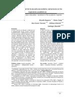BAQUERO et al (2012) Variaciones en los regímenes académicos