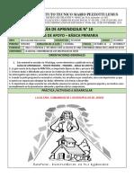 GUIA N° 10 - RELIGION SEGUNDO- GRADO- OCTUBRE 21