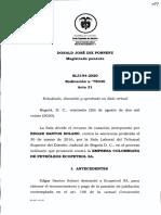 SENTENCIA CORTE SUPREMA DE JUSTICIA- PENSIONES E. S. S.