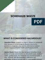 Scheduled waste