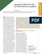 2011 Optically Transparent Cathode for Dye-Sensitized Solar Cells Based on Graphene Nanoplatelets nn102353h