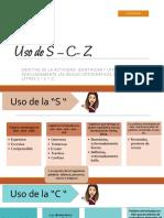uso C_S_Z (1) ACTIVIDAD 1 8ºBASICO PDF