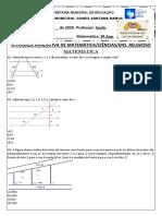 ATIVIDADE DE MATEMÁTICA-CIÊNCIAS-ENS.RELIGIOSO 9º ANO