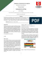 Informe Lab Ley de Ohm