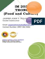 module in gastronomy