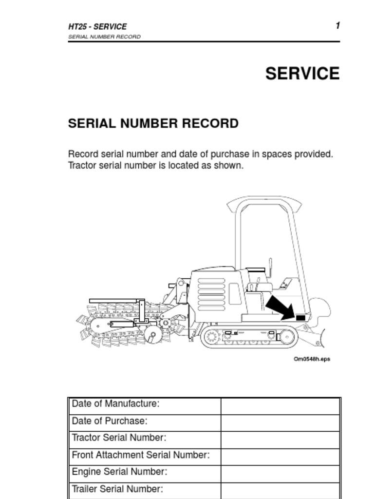 ditch witch ht25 manual tractor seat belt rh scribd com