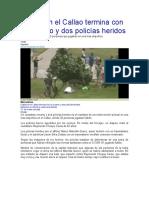 Fulbito en El Callao Termina Con Un Muerto y Dos Policías Heridos