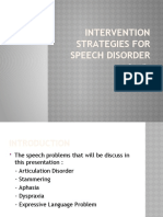 Intervention Strategies For Speech Disorder (Presentation)