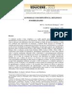 AVALIAÇÃO DAS PESSOAS COM DEFICIÊNCIA-DESAFIOS E POSSIBILIDADES