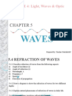 5.4 REFRACTION OF WAVES
