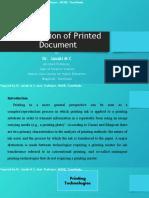 Forenic Examination of Printed Document