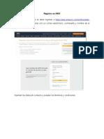 Manual Registro en AWS