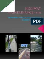 Chapter 5 - Pedestrian Walk Maintenance