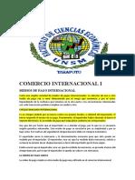 MEDIOS DE PAGO INTERNACIONAL-PREGUNTAS
