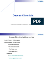 Deccan Chronicle Corporate Introduction PPT