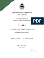 SYLABUS DE DIDACTICA  DE LAS  CIENCIAS