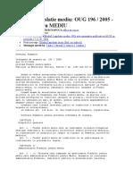 OUG 196  2005 - Fondul pentru MEDIU