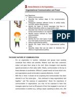 Chapter 5 - Organizational Communication and Power