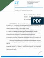 RESOLUCAO no 117.2020 - Regula a participacao, protecao e defesa dos direitos do usuario dos servicos publicos