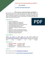 International Journal of Recent advances in Mechanical Engineering (IJMECH)