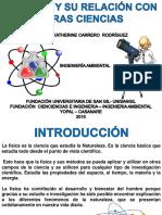 Relaciones de la fisica con otras ciencias