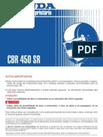 Manual Proprietário - CBR 450SR 1992