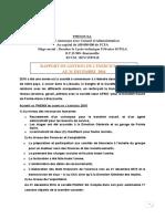 Poposition rapport de gestion 2016