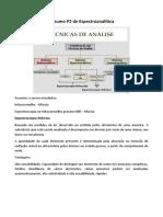 Resumo P2 de Espectroanalítica