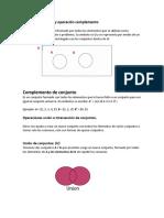 Conjuntos y operaciones de conjuntos