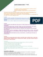Sugestão de plano de aula - 1° ciclo
