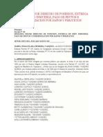 DEMANDA MEJOR DERECHO DE POSESION, ENTREGA DE BIEN INMUEBLE, PAGO DE FRUTOS E INDEMNIZACION POR D
