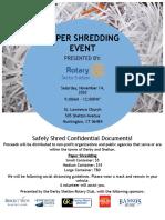 Derby-Shelton Rotary Paper Shredding