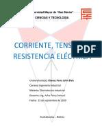 CORRIENTE, TENSION Y RESISTENCIA ELECTRICA