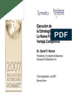 EJECUCION DE LA ESTRATEGIA, LA NUEVA FUENTE DE LA VENTAJA COMPETITIVA-NORTON DAVID