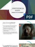 CONVIVENCIA SANA- SUSCEPTIBILIDAD