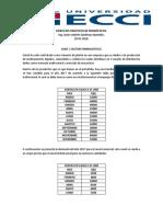 EJERCICIOS PRÁCTICOS DE PRONÓSTICOS 2019