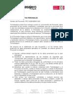 CARTA PROTECCIÓN  DE DATOS PERSONALES TT1