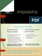 Impuestos en documentos protocolares