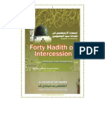 FORTY HADITHS ON INTERCESSION