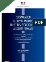 L'ORGANISATION DU SERVICE MILITAIRE, REFLET DES ÉVOLUTIONS DE LA SOCIÉTÉ FRANÇAISE Cahierhorssrie