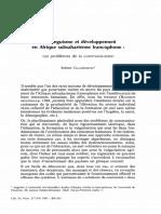 Le plurilinguisme en Afrique Chaudenson